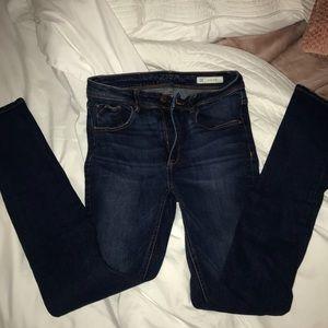 Denim - High-Waisted Blue Denim Jeans